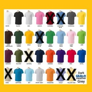 """Choose A""""Color"""": Chart for Tshirts!"""